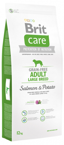 Brit Care Grain-free Adult Large Breed Salmon a Potato 12 kg