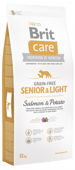 Brit Care Grain-free Senior a Light Salmon a Potato 12 kg
