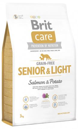 Brit Care Grain-free Senior a Light Salmon a Potato 3 kg