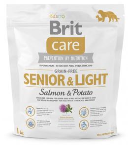 Brit Care Grain-free Senior a Light Salmon a Potato 1 kg