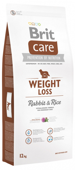 Brit Care Weight Loss Rabbit a Rice 12 kg