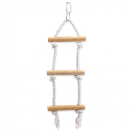 Bird Jewel hračka závesná drevo a povraz 12x40 cm