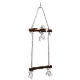 Bird Jewel hračka závesna drevo a povraz 15x50 cm