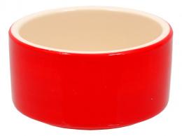 Miska SMALL ANIMAL keramická pre králiky červená 10 cm
