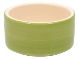 Miska SMALL ANIMAL keramická pre králiky zelená 10 cm