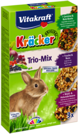 Kracker Rabbit Veget. Nuss Fruit 3ks