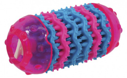 DOG FANTASY Dental hračka ružová 13,7 cm