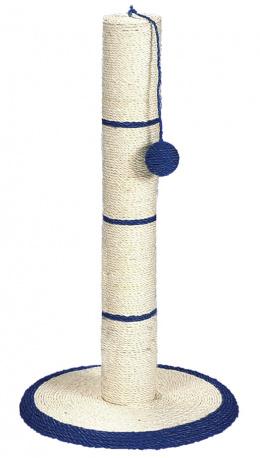 Skrabaci stlpik na platni z materialu sisal, s loptickou 62cm