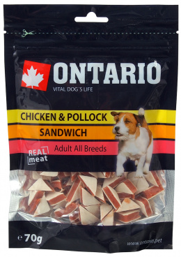 ONTARIO Natural Meat Dog Snack Chicken Jerky Sandwich 70g