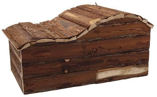 Domcek SA Kaskada dreveny s korou 43x28x22cm