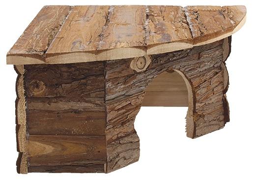 Domcek SA Rohovy dreveny s korou 30x30x16cm