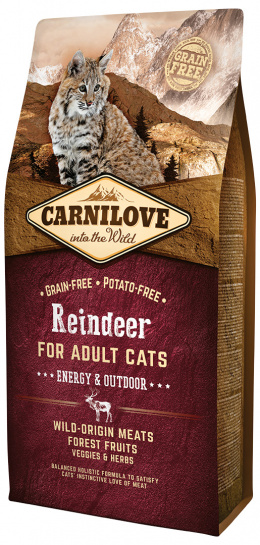 Carnilove Reindeer Adult Cats - Energy and Outdoor 6kg