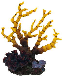 Dekorácia akv. Morský Koral žltofialový 12,5 x 8,1 x 13cm