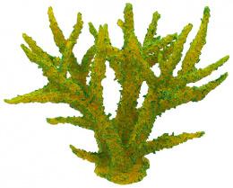 Dekorácia akv. Morský Koral mäkký zelený 16 x 12,5 x 13,5cm