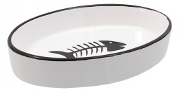 Miska MC keramicka oval s rybkou 16x11x3cm