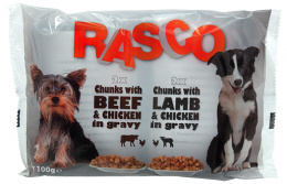 Kapsicka Rasco Dog kura a hovadzie/jahna a kura 4x100g