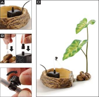 Rastlina Exo Terra Dripping Plant velka