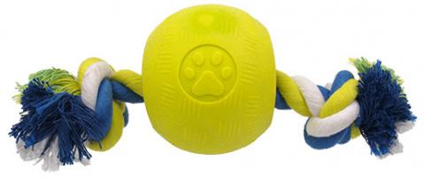 Hracka DF STRONG FOAMED lopticka guma s provrazom 8,2 cm