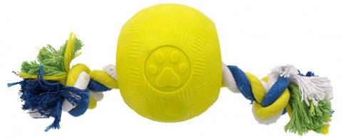 Hracka DF STRONG FOAMED lopticka guma s povrazom 9,5 cm