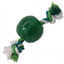 Hračka Dog Fantasy STRONG MINT míček guma s provazem zelený