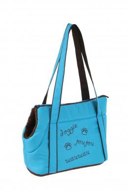 Taška Doggie modrá 30 cm