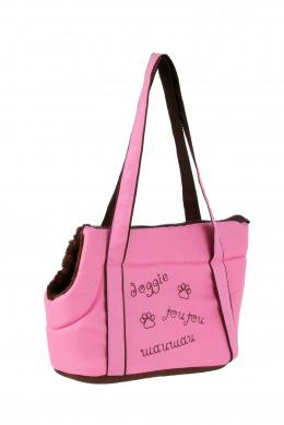 Taška Doggie ružová 40 cm