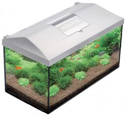 Akvarium set LEDDY 60x30x30cm, 54l biela