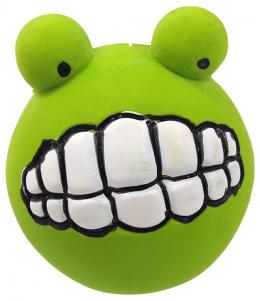 Hracka DF Latex Zuby so zvukom zelena 6cm