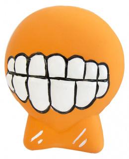 Hracka DF Latex Zuby so zvukom oranzova 6cm