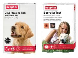 Beaphar Borrelia test + Beaphar DIAZ obojek 65cm