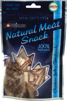ONTARIO Natural Meat Cat Snack Chicken Jerky Sandwich 70g title=