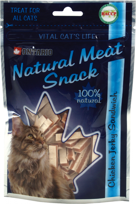 ONTARIO Natural Meat Cat Snack Chicken Jerky Sandwich 70g