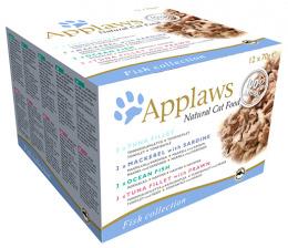 APPLAWS cat konzerva pre mačky 12x70 g rybí výber