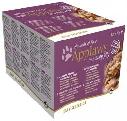 Konzervy APPLAWS cat konzerva pre mačky multipack 12x70 g želé výber