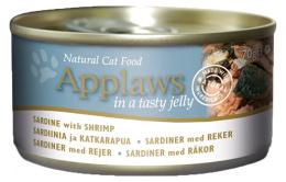 Applaws cat konzerva 70 g sardinky a krevety