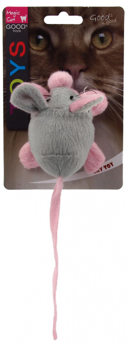 Magic cat hračka myška šuštiaca s catnipom mix 22,5 cm