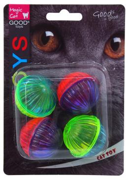 Hracka MC lopticka leskla plastova so zvukom 3,75cm 4ks
