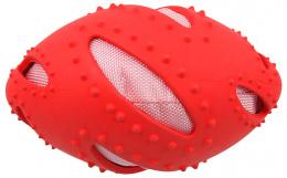 Hracka DF TPR rugby lopta cervena 16cm