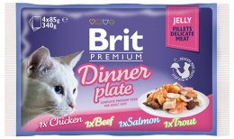 Brit Premium Cat Delicate Filety v želé Dinner Plate 340 g (4x85 g)