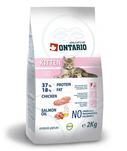 ONTARIO Kitten granuly pre mačiatka 2 kg