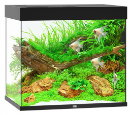 Akvarium set Lido LED 200 cierna 70*51*65cm,200l