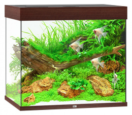 Akvarium set Lido LED 200 tm.hnede 70*51*65cm,200l
