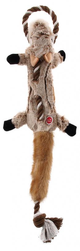 DF hračka Skinneeez s uzlom veverička 57,5 cm