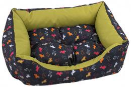 Sofa DF 63x53x18cm origami pes mix cierno-zelena