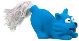 Hracka DF Latex Mini macka modra zvuk 7cm
