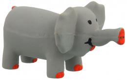 Hracka DF Latex Slon sedy so zvukom 10cm