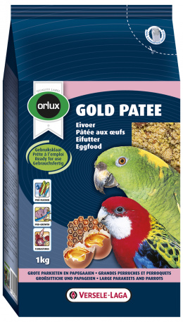 ORLUX Gold Patee 1kg krmivo vajecne pre stredne a velke papagaje