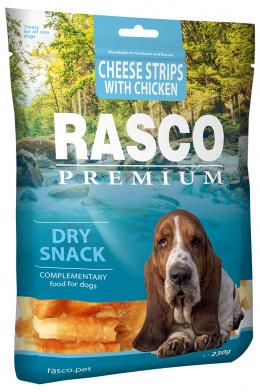 Rasco Premium pochúťka prúžky syra obalené kuracím mäsom 230 g