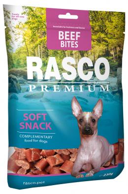 Pochúťka Rasco kúsky z hovädzieho mäsa 230 g