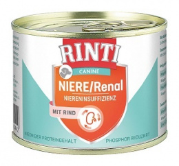 RINTI Canine Niere/Renal konz. 185g hovadzia